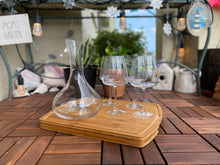Load image into Gallery viewer, Decanter and Four Stemmed Wine Glasses Set