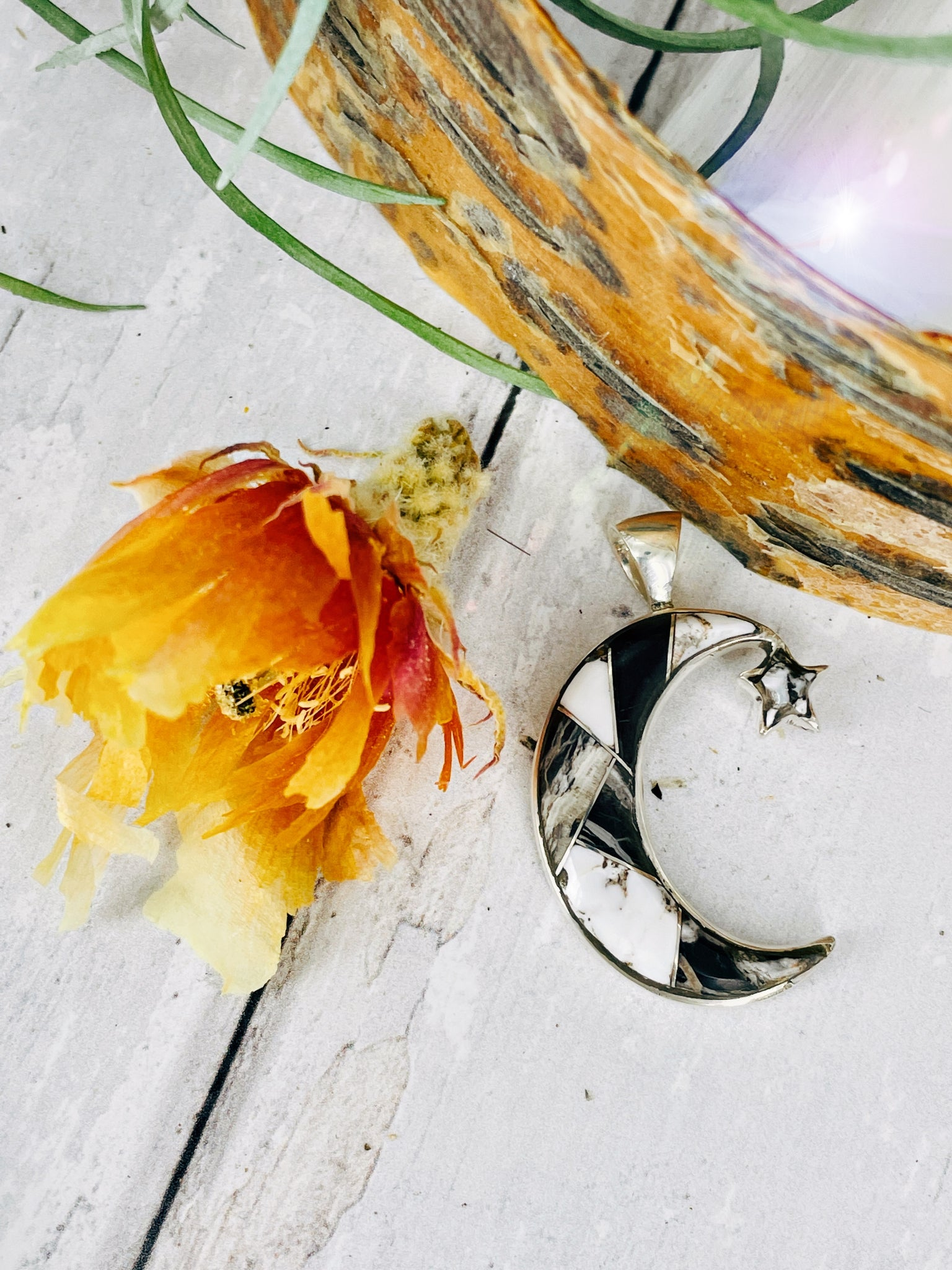 To the Moon & Back {White Buffalo} Pendant