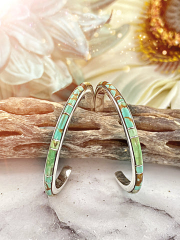 MELARGE {Blue Moon turquoise} Hoops