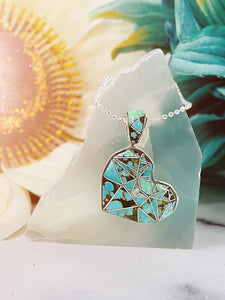 Mended Heart {turquoise} necklace