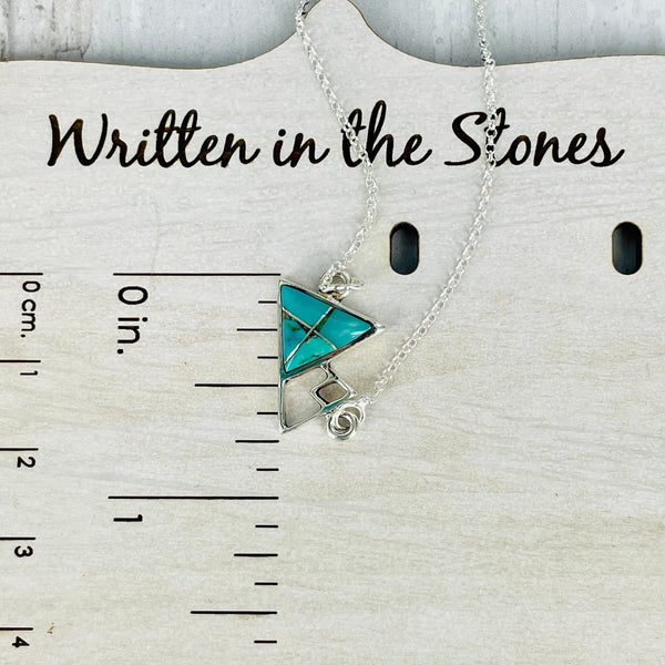 Adventure Awaits {mountain necklace} turquoise
