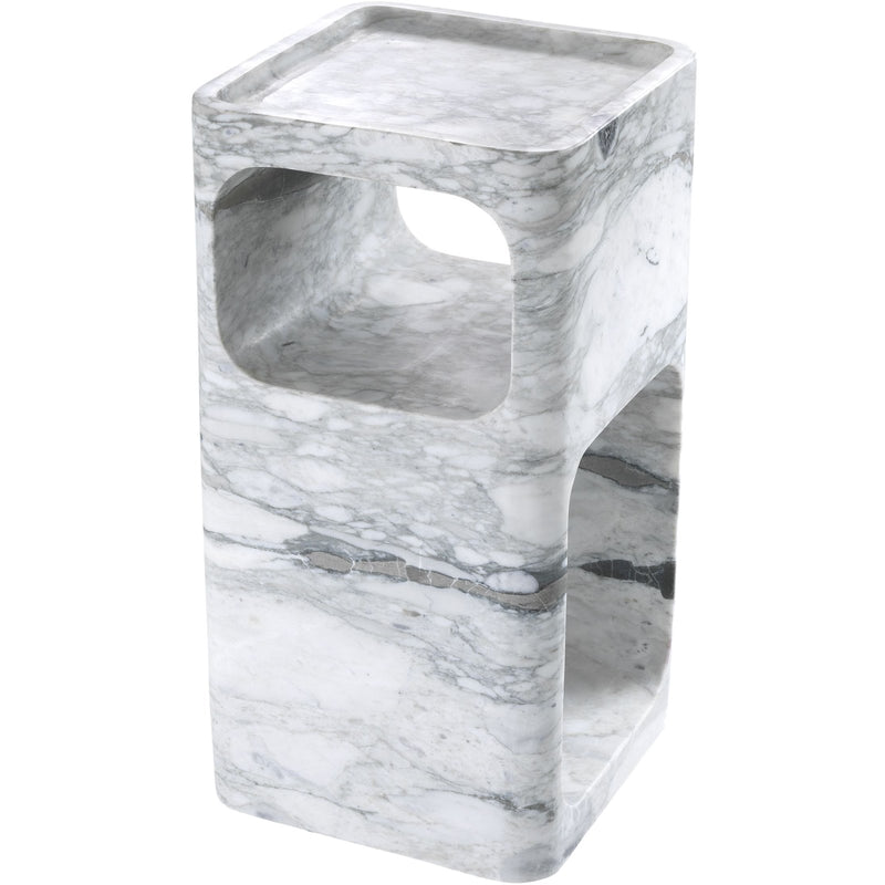 Adler White Marble Side Table