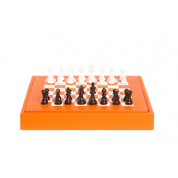 Chess set Box Buffalo leather