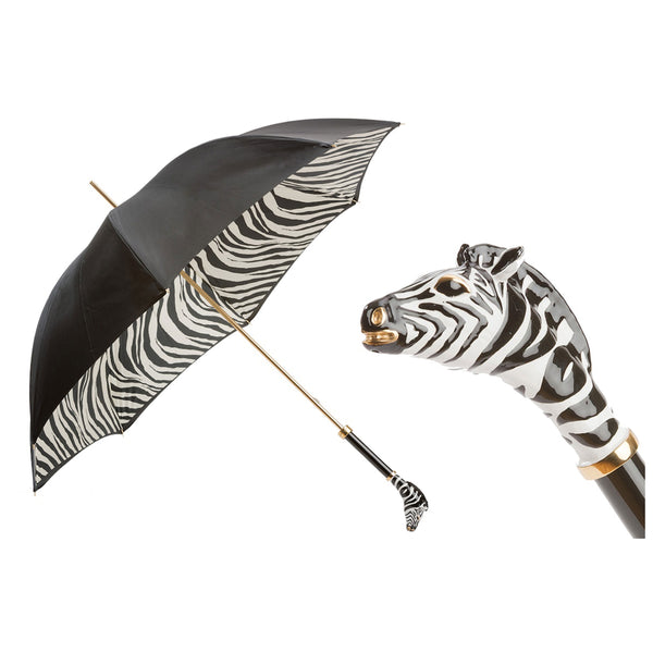Enameled Zebra Umbrella, Double Cloth