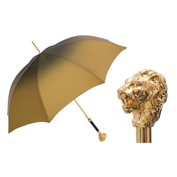 Iconic Golden Lion Umbrella