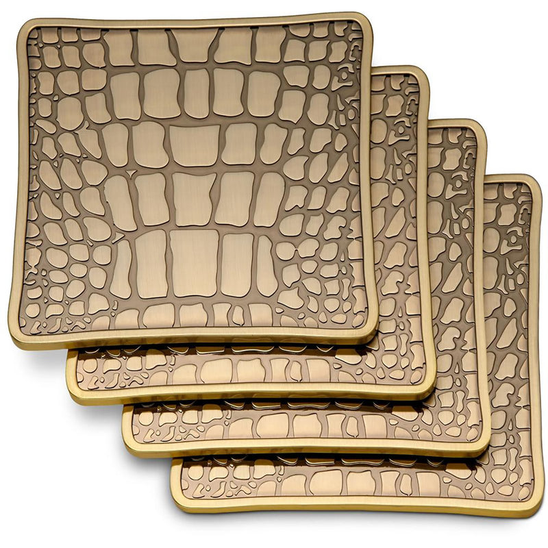 Set of 4 Crocodile Coasters
