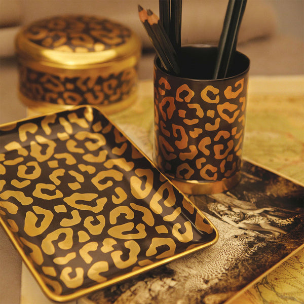 Set of 4 Leopard Coasters