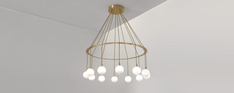Drape circle 12 chandelier Small