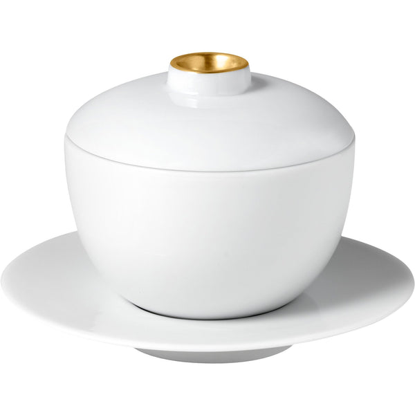 Zen Tea Cup with Lid & Saucer