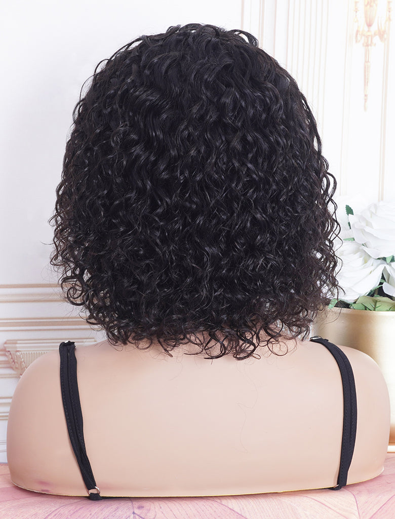 New Arrival Loose Curly Head Band Wig Human Hair Machine Made Wigs
