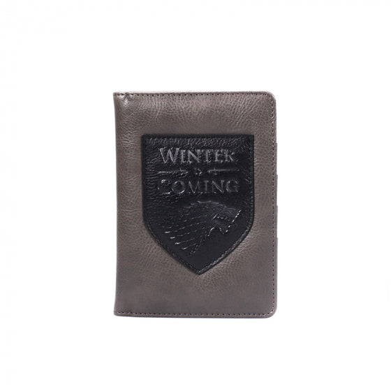 PASSPORT WALLET (BOXED) - GAME OF THRONES (WINTER IS COMING)