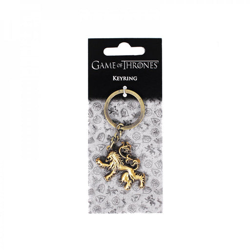 KEYRING (WITH HEADER CARD) - GAME OF THRONES (LANNISTER)