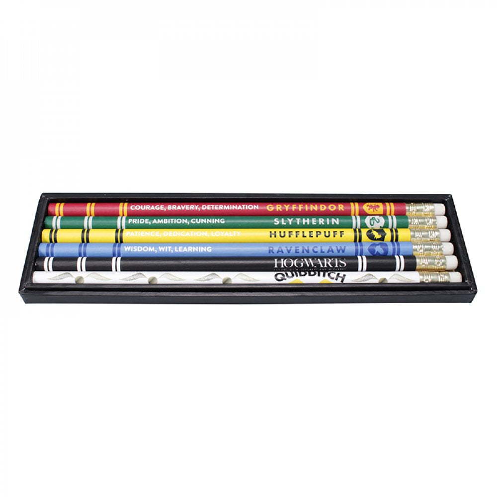 PENCILS SET OF 6 - HARRY POTTER (HOUSE PRIDE)
