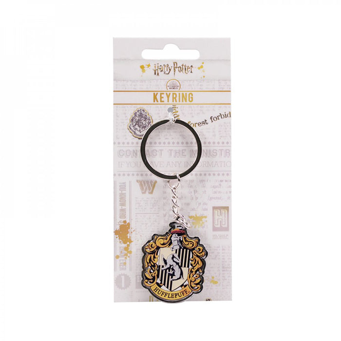 KEYRING (WITH HEADER CARD) - HARRY POTTER (HUFFLEPUFF)