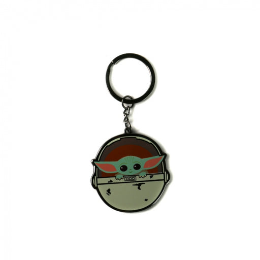 KEYRING (WITH HEADER CARD) ROUND - STAR WARS (THE CHILD)
