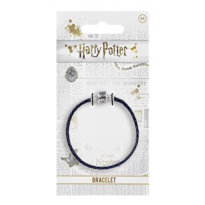Harry Potter Black Leather Charm Bracelet 21cm
