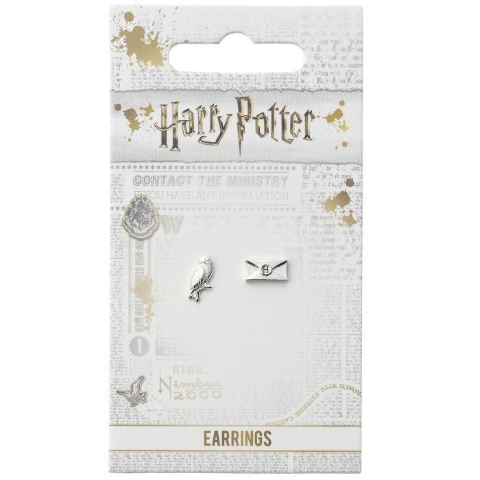 Official Harry Potter Hedwig and Letter Stud Earrings