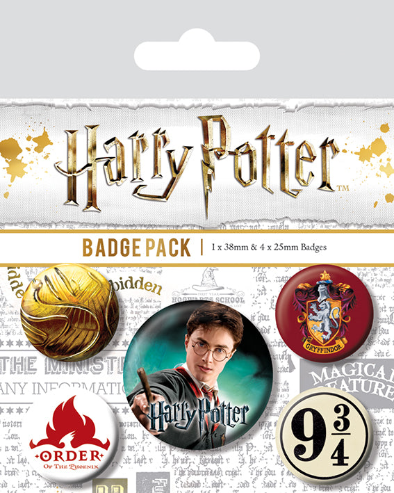 Harry Potter (Gryffindor) Badge Pack