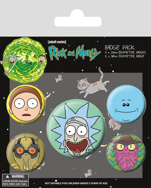 Rick and Morty (Heads)  Badge Pack