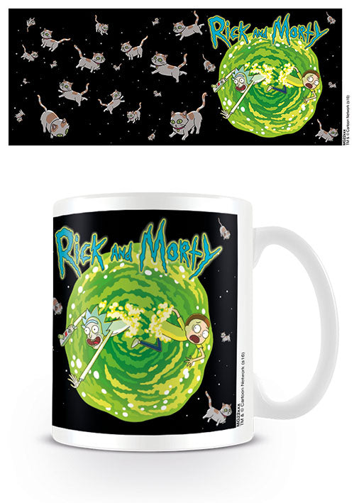 Rick and Morty (Floating Cat Dimension)  Coffee Mug
