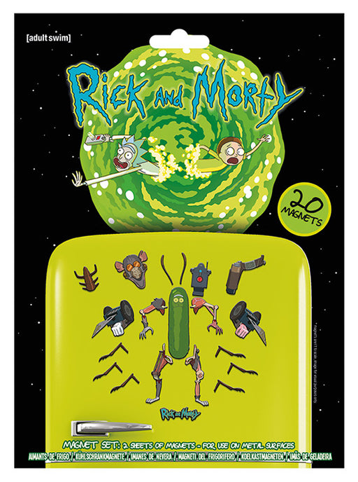 Rick and Morty (Weaponize The Pickle)  Magnet Set