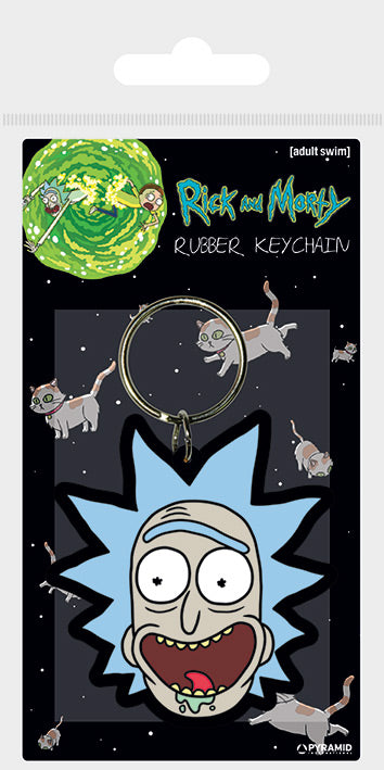 Rick and Morty (Rick Crazy Smile)  Rubber Keychain