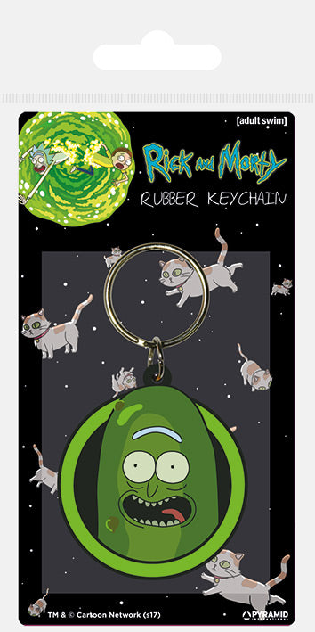 Rick and Morty (Pickle Rick)  Rubber Keychain