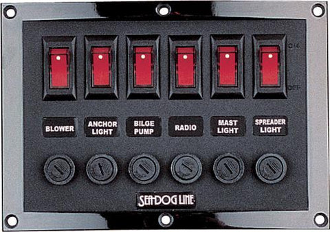 Seadog 424210-1. Horizontal Switch Panel.