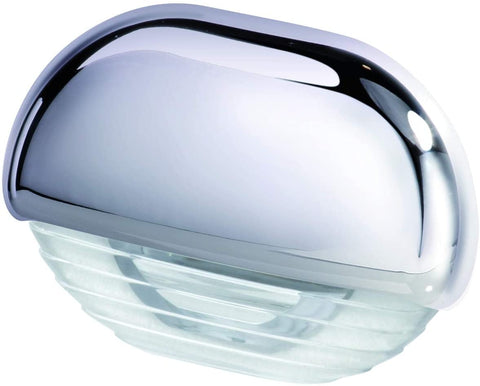 Step Light with Clear Lens and Chrome Plated Plastic Cap. HELLA 958126001  White 12-24V DC LED