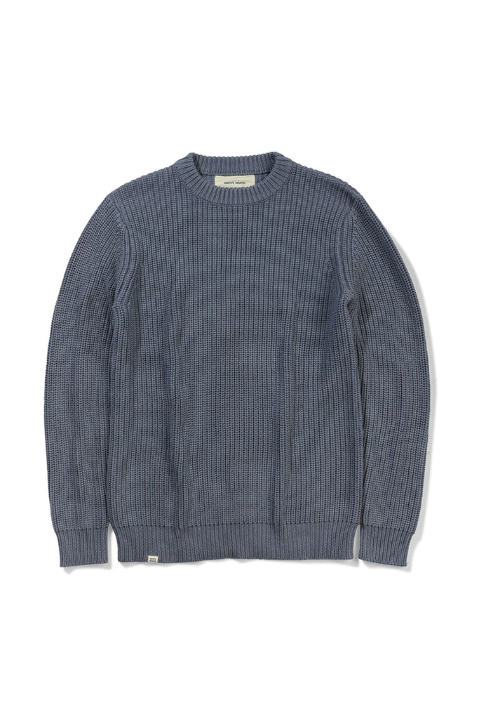 Asker Wool Knit - Indigo Blue - Native North