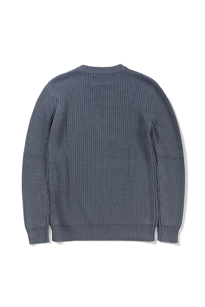 Asker Wool Knit - Indigo Blue - Native North Scandinavian Design Clothing