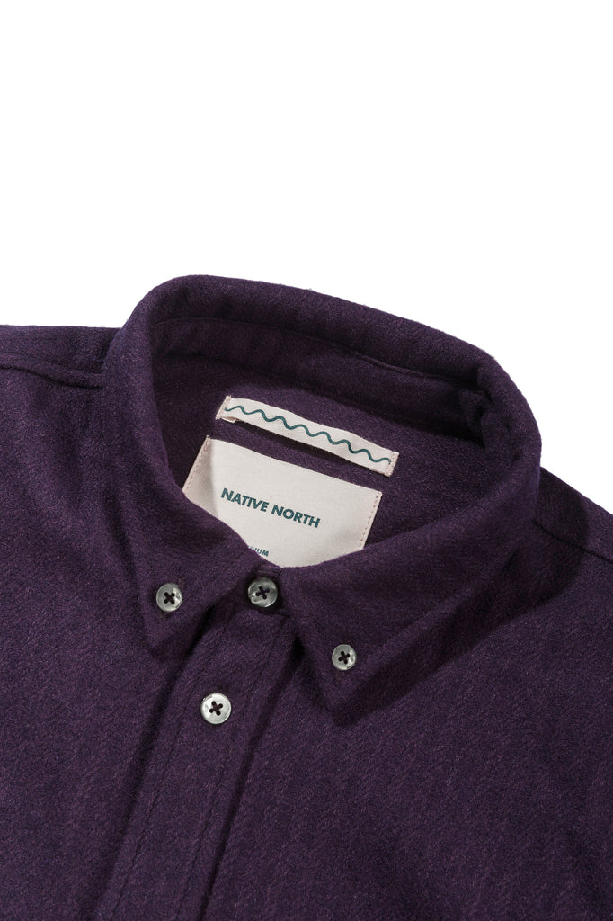Wool Workers Shirt - Purple - Native North
