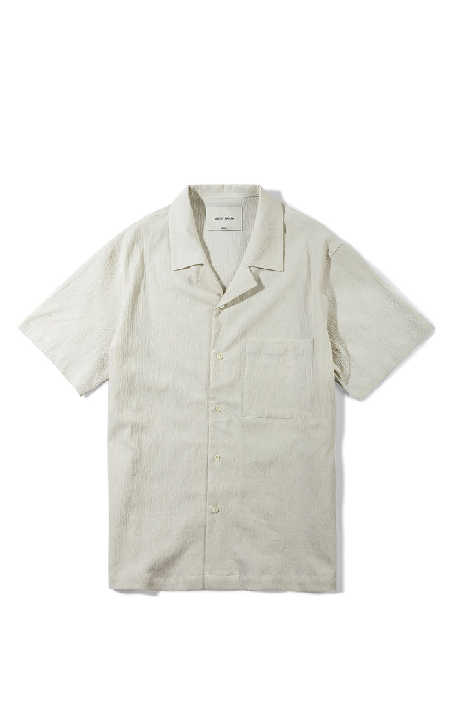 Seersucker Short Sleeve - Sand - Native North