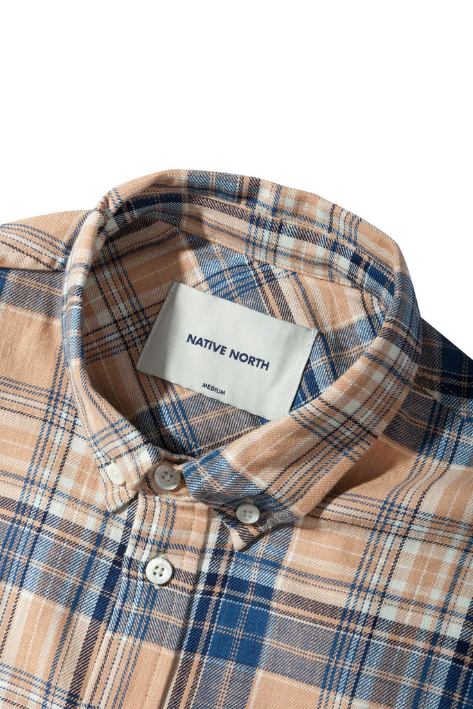 Coral Check Shirt - Native North Scandinavian Design Clothing