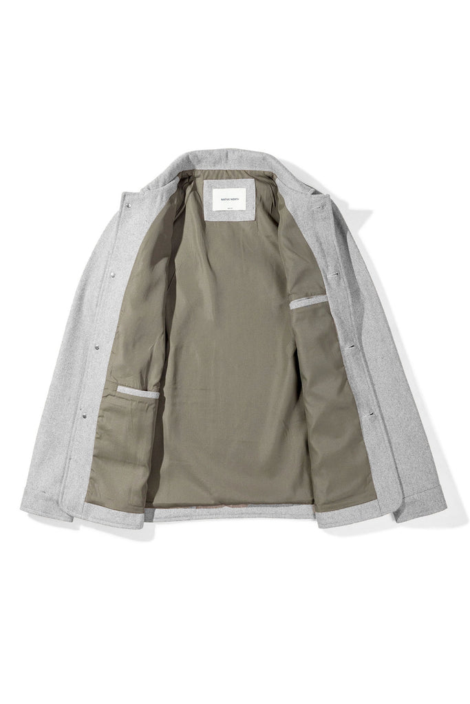 Wool Utility Jacket (Light Grey) - Native North Scandinavian Design Clothing