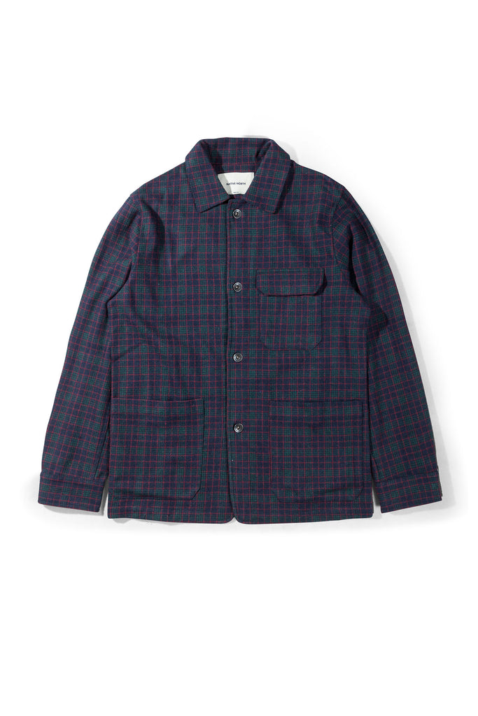 Check Utility Overshirt - Navy - Native North