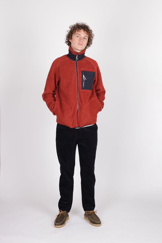 Moleskin Fleece Jacket Red - Native North Scandinavian Design Clothing
