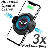 Koakuma W5 Infrared Auto Induction 15W Fast Wireless Car Charger