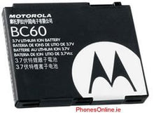 Load image into Gallery viewer, Motorola BC60 Genuine Battery for RAZR V3x