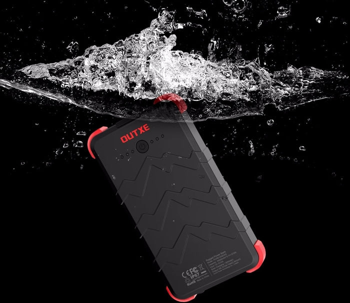 OUTXE Savage IP67 Rugged Solar Power Bank 10,000mAh