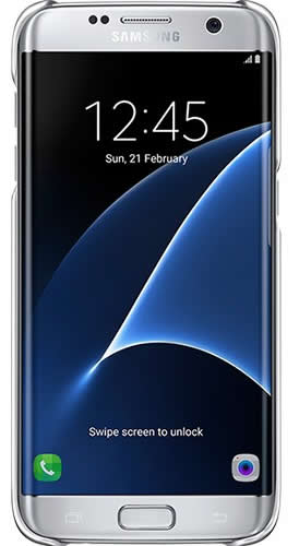Samsung Galaxy S7 Edge Clear Cover Silver - EF-QG935CSE