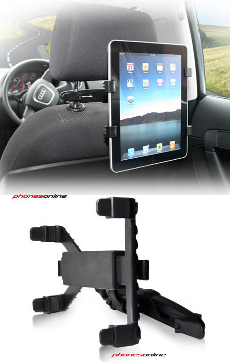 Universal iPad and Tablet Headrest Car Mount
