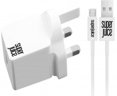Superjuice 3-Pin Qualcomm 2.0 Quick Charger MicroUSB