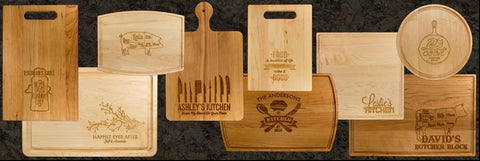 Personalized Bamboo Serving Boards