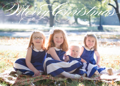 541 Merry Christmas Burgues Photo Holiday Card