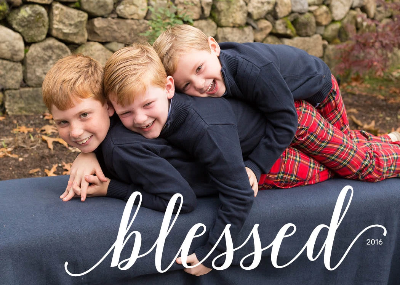 466 Blessed Photo Holiday Card