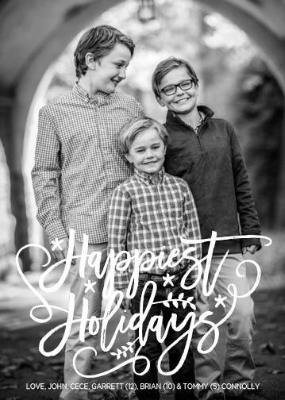 392 Happiest Holidays Photo Holiday Card