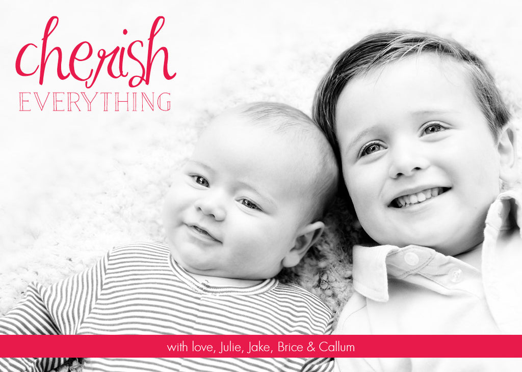 506 Cherish Everything Photo Holiday Card