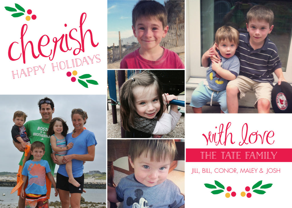 507 Cherish Holly Photo Holiday Card