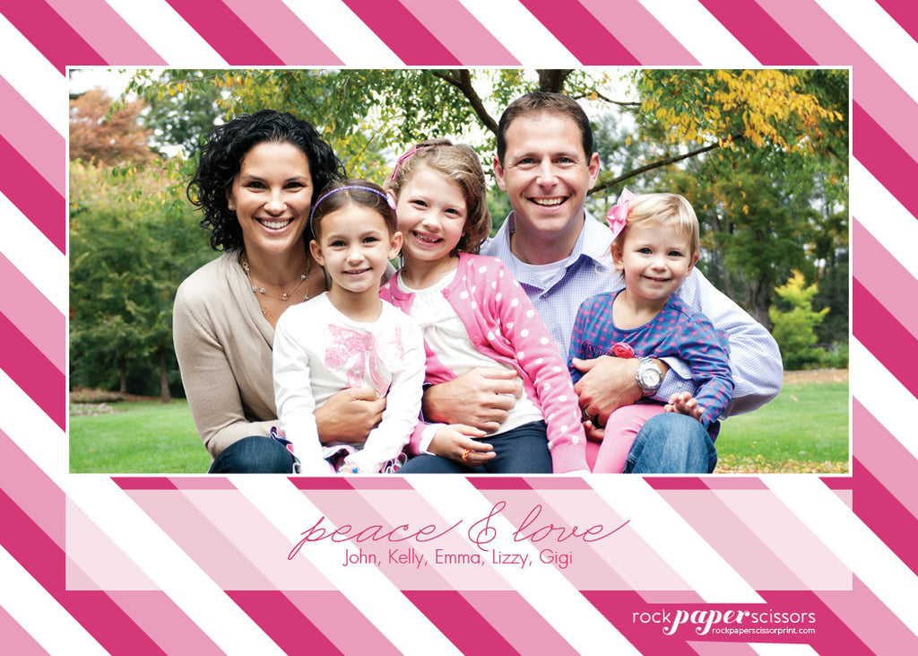 523 Peace and Love Photo Photo Holiday Card
